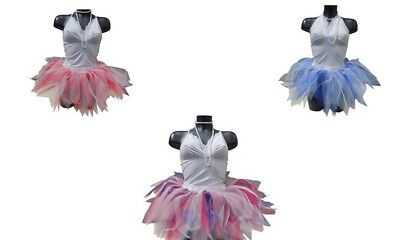 Neon Tutu Skirt Red White Blue 80s Fancy Dress Hen Party Fun Run UK USA DANCE