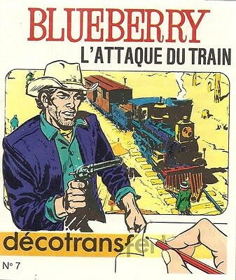 Eo 1971 Giraud Charlier Mini-Livre  Décalcomanies Blueberry  L'attaque Du Train
