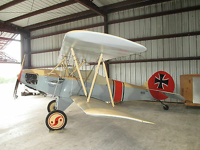 "1999 ""TOMMY HAWK"", MODIFIED HATZ BIPLANE WITH CUSTOM WW1 ALBATROSS LOOK !! SUPER"