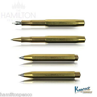 KAWECO BRASS SPORT - Full range of writing systems in solid brass