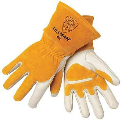Tillman MIG 50L Top Grain / Split Cowhide Welding Gloves  - Size Large