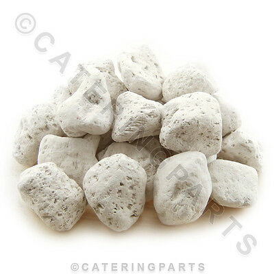 5kg BAG OF WHITE COMMERCIAL PUMICE STONE GAS BBQ CHAR GRILL LAVA ROCK P/N: LAVA9