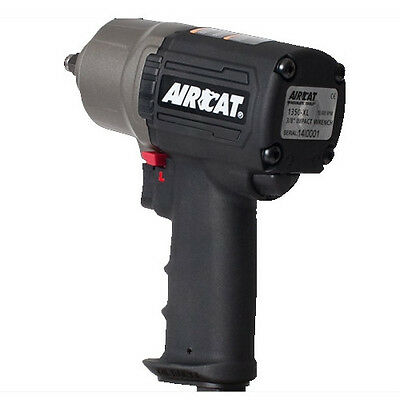 """AIRCAT 3/8"""" Composite Impact Wrench: High-Low Torque: Twin Hammer - 1350-XL"""