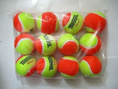 12 Stage 2 Low Compression Tennis Balls. 50% Slower Ball For Beginners