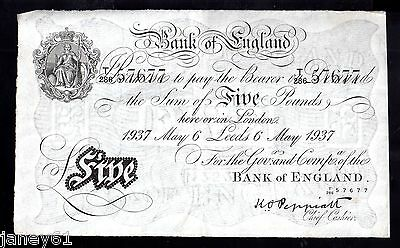 ~ LEEDS BRANCH WHITE £5 FIVE POUND BANKNOTE - Peppiatt  - B241d ~