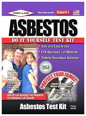 New! **PRO-LAB** Asbestos Detector Test Kit DIY EPA Approved Safe & Easy AS 108