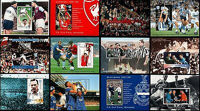 Football Club Stamp Sheets (Set of 12 FA Cup Collection) 1996 GB Local Stamps