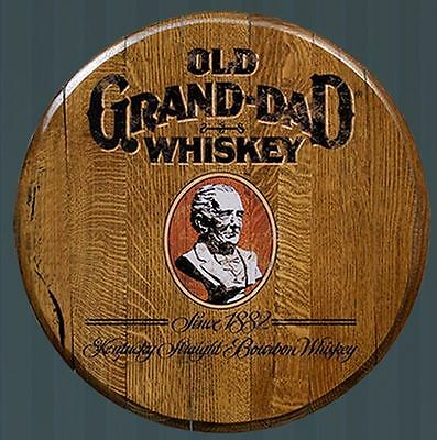 Old Grand-Dad Whiskey Licensed Authentic Barrel Head