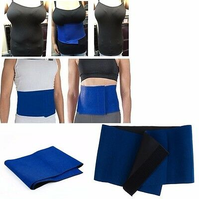 Soft Tight Slim Exercise Waist Belt Wrap Fat Burner Belly Cellulite Women Men