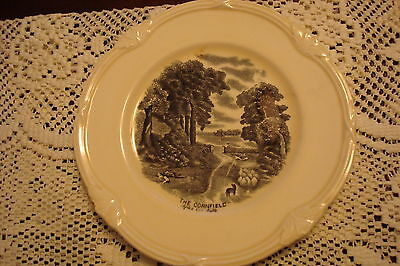 """A TOPOGRAPHICAL ENGLISH (GRINDLEY) CREAMWARE dessert plate.""""The Cornfield""""[a5]"""