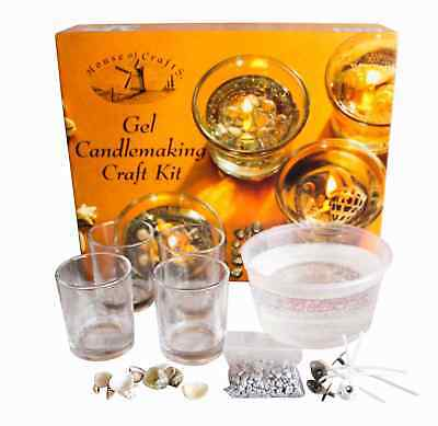House of Crafts Gel Candle Making Kit High Quality Jelly Clear Wick Decorative