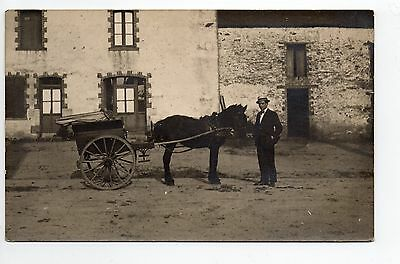 AGRICULTURE CAMPAGNE vie agricole carte photo attelage cheval