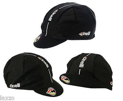 Cinelli Supercorsa Cotton Cycling Cap Black- Vintage -Fixed Gear- Made In Italy