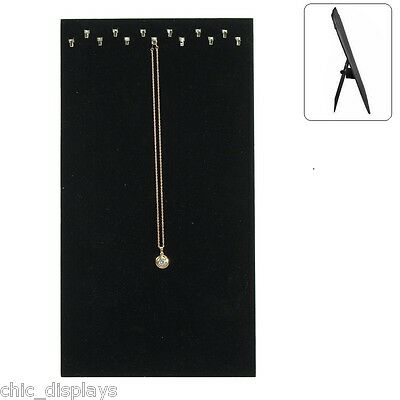 CHAIN BOARD  w/13 HOOKS NECKLACE DISPLAY STAND NECKLACE LINER FOR JEWELRY TRAY