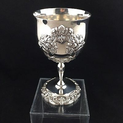Reed & Barton King Francis Wine Goblet Silver Plate 1662 Glass