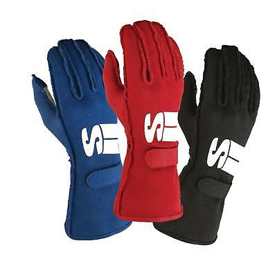 Simpson Impulse Racing Driver Gloves, Black, Size Small
