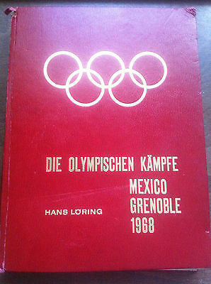 1968 Olympic Fight Mexico Grenoble Game Book