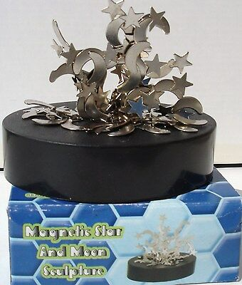 """STAR AND MOON MAGNETIC SCULPTURE 3.5"""" FREE SHIPPING"""