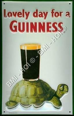 """Lovely day for a Guinness Gilroy - Turtle Metal Sign 12"""" x 8"""" inches"""