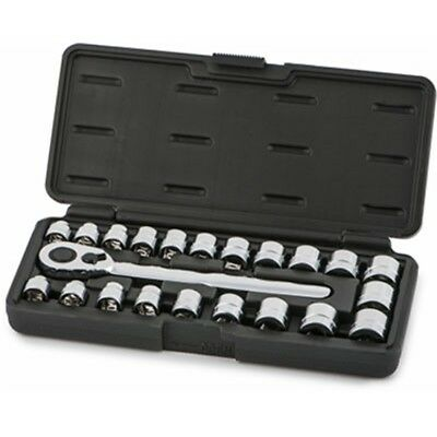 Titan Tool 68003 22 Piece 3/8 Inch Drive MM/SAE Low Profile Socket Set