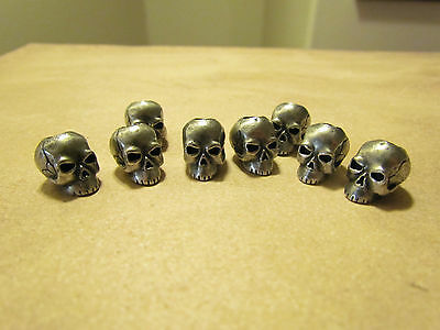 Schmuckatelli pewter skull bead use with 550 paracord for lanyards or bracelets