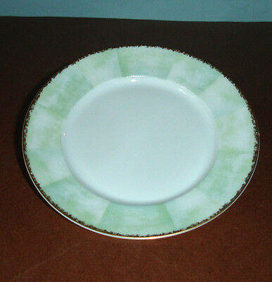 Lalique Limoges Orchidees Bread Butter Appetizer Tidbit Plate Green & Gold New