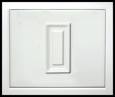 White uPVC Quarter Door Panel 24mm / 28mm. 790mm X 970mm.