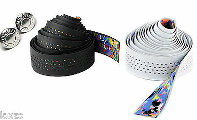 Cinelli Caleido Leatherette Black And White Synthetic Bar Tape Bicycle Handlebar