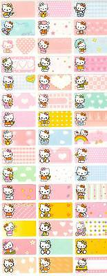 Personalized Waterproof Name labels stickers, 36 Hello Kitty  2,day care,school,