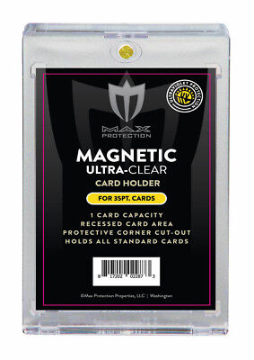 100 Max Pro Ultra One Magnetic Touch 35pt Card Holders UV Premium Black Label