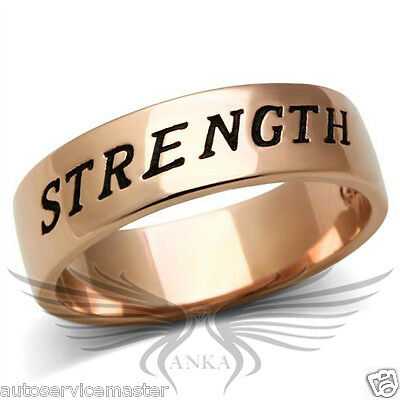 STRENGTH Rose Gold Plated Classy Fashion Ring Band No Stone 5 6 7 8 9 10 GL197