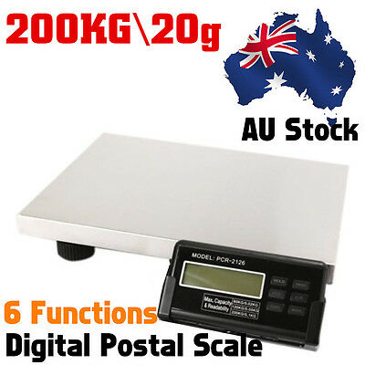 200Kg 20G Heavy Duty Digital Parcel Postal Platform Scale Weighing Au Stock