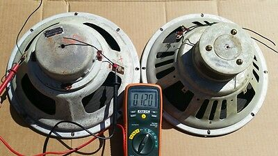 "Vintage AMPEX 12"" Woofers Speakers Rare from Console"