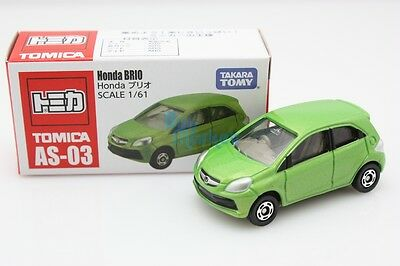New Takara Tomy Tomica Honda BRIO GREEN Asia Scale 1/61 Diecast Toy Car Japan