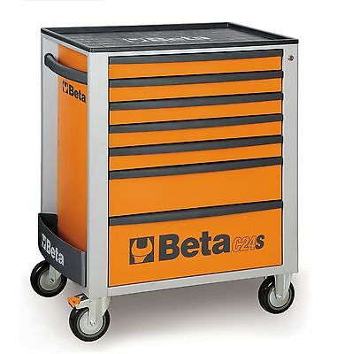 Beta Tools C24S/7 Mechanics Mobile Roller Cab Tool Chest Box Cabinet - 7 Drawer