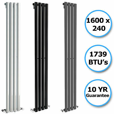 Vertical Designer Radiator Tall Oval Column Panel Rad Bathroom Central Heating