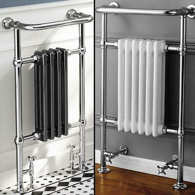 Traditional Cast Iron Style Designer Chrome Heated Towel Rail Bathroom Radiator