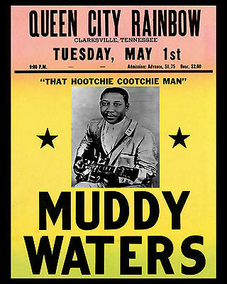 Muddy Waters Concert Poster - 8x10 Photo
