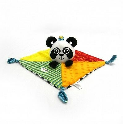 Newborn Baby Kid Child High Contrast Panda Rattle Blanket Soft Plush Toy Doll 0+