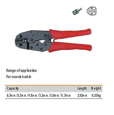 Crimp Tool Ratchet Wire WiFi Cable RG58 RG174 RG316 SMA N-Type Electrical WiFi