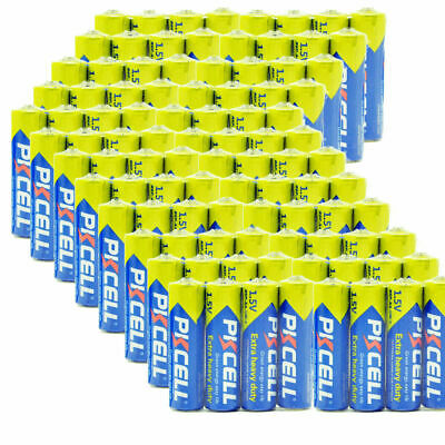 100PCS R6P 1.5V AA Battery Super Heavy Duty Double A Batteries PKCELL CA Seller