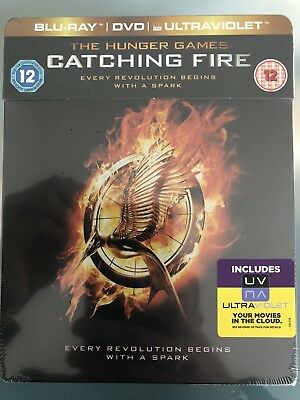 The Hunger Games: Catching Fire Steelbook****blu-Ray****region B****new & Sealed