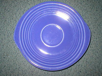"""Edwin M. Knowles China Yorktown 6"""" Blue Saucer Art Deco Style"""