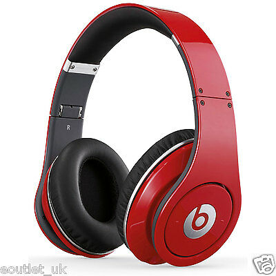 Beats by Dr. Dre Studio 1.0 Over-Ear Wired Headphone Red Noise Cancelling NEW