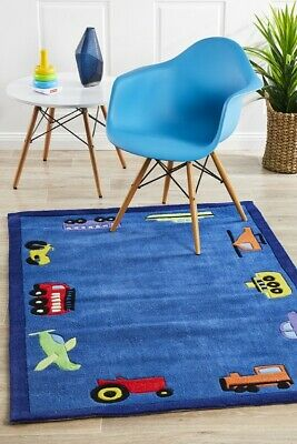CAR KIDS RUG 00 Thick Blue Children Floor Mat Playmat Baby Boys FREE DELIVERY*