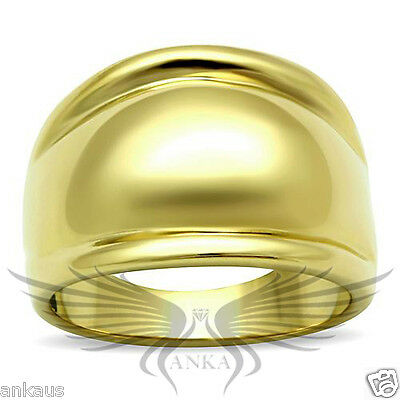 Women's Yellow Gold Plated Classy Fashion Ring No Stone 5 6 7 8 9 10 TK053G