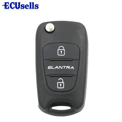 Replace Flip Key Shell fit for HYUNDAI Accent 2011-2013 Remote Case Fob Uncut 3B