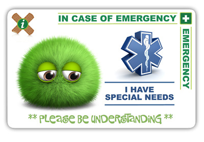 ICE Card - I Have SPECIAL NEEDS Fluff Design Card & 2 Keyrings