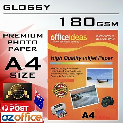 180GSM A4 High Glossy Photo Paper for Canon Epson HP Xerox Inkjet Laser Printer