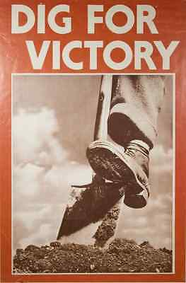 A2 Print Kunstplakate World War Two Dig For Victory Home Front Poster A3 Antiquitäten & Kunst